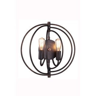 Elegant Lighting Vienna Collection 1453 Wall Lamp with Dark Bronze Finish