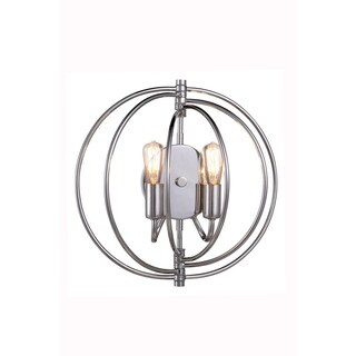 Elegant Lighting Vienna Collection 1453 Wall Lamp with Polished Nickel Finish