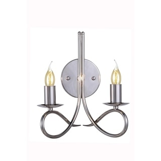 Elegant Lighting Lyndon Collection 1452 Wall Lamp with Polished Nickel Finish
