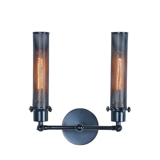 Elegant Lighting Nelson Collection 1450 Wall Lamp with Black Finish
