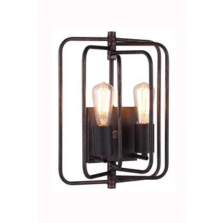 Elegant Lighting Lewis Collection 1454 Wall Lamp with Dark Bronze Finish
