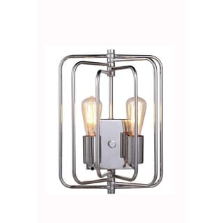 Elegant Lighting Lewis Collection 1454 Wall Lamp with Polished Nickel Finish