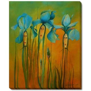 Krzysztof Lozowski 'Iris Ladies III' Framed Fine Art Print