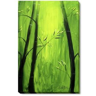 Michael Hitt 'Bamboo at a Frog's View' Framed Fine Art Print
