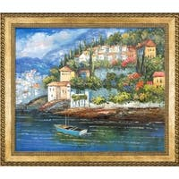 Italy at Dusk' Hand Painted Framed Canvas Art