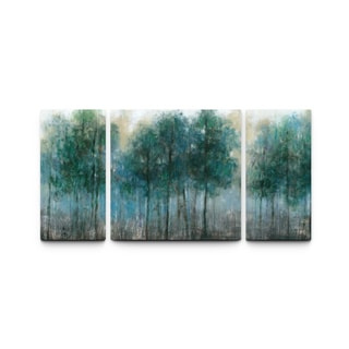 Studio 212 'Winter Forest 30x60 Triptych Textured Canvas Wall Art