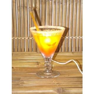 Orange Sunrise Cocktail Lamp