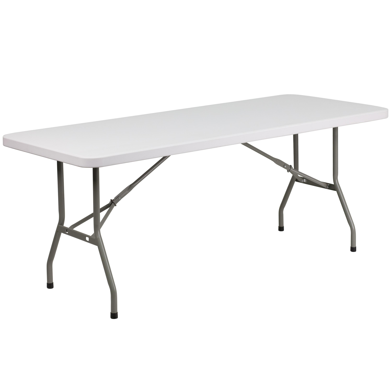 - Shop 6-Foot Granite White Plastic Folding Table - Banquet / Event