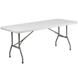 30-inch White Plastic Folding Table