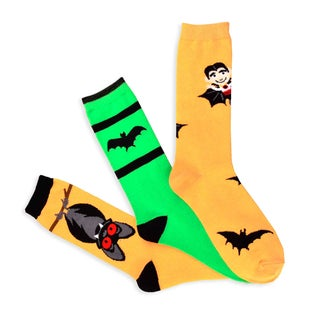 Halloween Socks - Batty Women's 3-pair Pack Women's Crew Socks