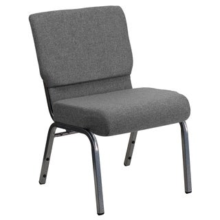 Hercules Series Vein Frame 21-inch Extra Wide Stacking Church Chair with 3.75-inch Thick Seat