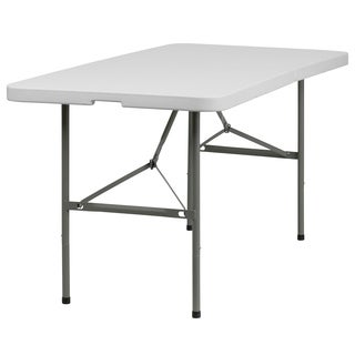 White Plastic 30-inch Folding Table