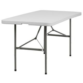 White Plastic 30-inch Folding Table
