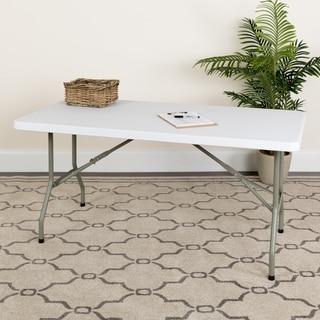 White 30-inch Plastic Folding Table