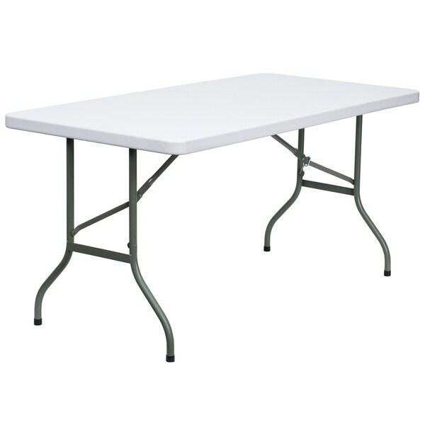 White 30 Inch Plastic Folding Table
