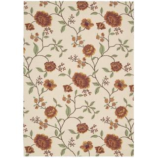 Rug Squared Sea Breeze Ivory Rug (5' x 7')
