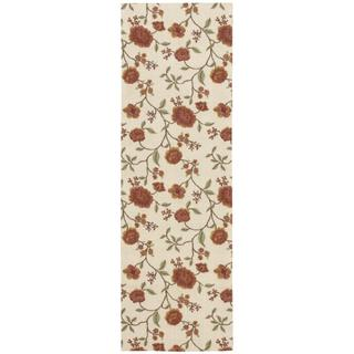 Rug Squared Sea Breeze Ivory Runner Rug (2'6 x 8')