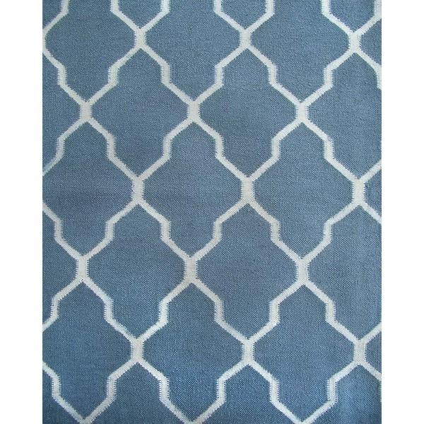 Shop ABC Accents Tuscan Trellis Fallon Blue Wool Rug