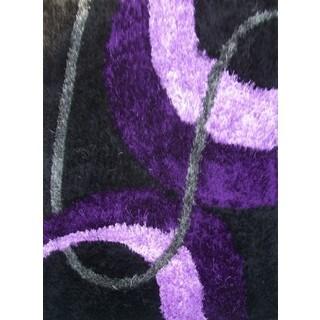ABC Accents Silky Shag Purple Rug