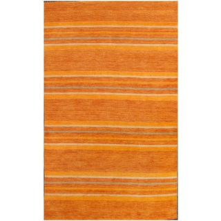ABC Accents Contemporary Stripe Wool Orange Rust Rug