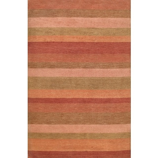 ABC Accents Modern Stripes Wool Rust Multi Rug