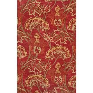 ABC Accents Adele Red Transitional Wool Rug