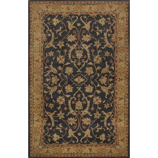 ABC Accents Heritage Wool Navy Gold Burgundy Rug