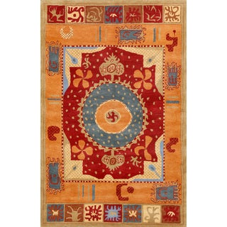 ABC Accents Suzani Red Wool Rug