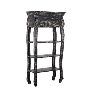 Distressed Black Bookshelf