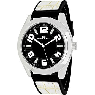 Oceanaut Men's OC7513 Vault Round White Leather and Silicone Strap Watch