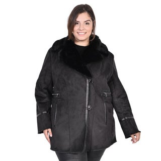 Nuage Women's Plus Faux Shearling Short Coat