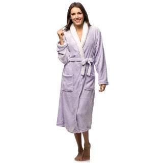 Women's Sherpa Collar Super Soft Plush Robe