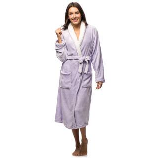 Women's Sherpa Collar Super Soft Plush Robe|https://ak1.ostkcdn.com/images/products/10630132/P17699271.jpg?impolicy=medium