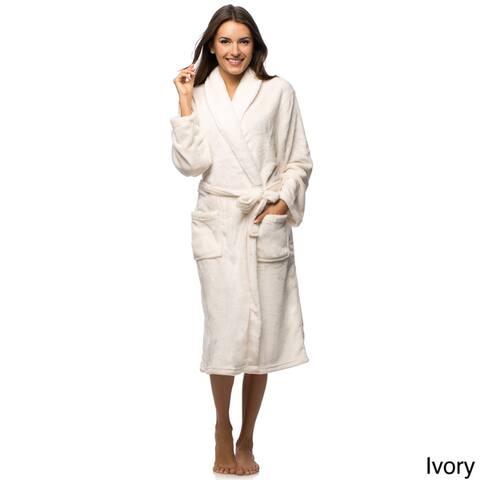 Women's Sherpa Collar Super Soft Plush Robe