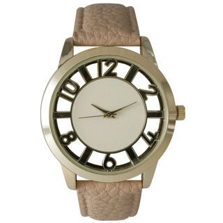 Olivia Pratt Women's Peek-Through Number Watch