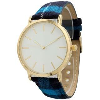 Olivia Pratt Women's Simple Plaid Strap Watch