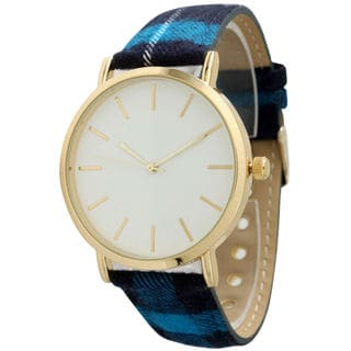 Olivia Pratt Women's Simple Plaid Strap Watch