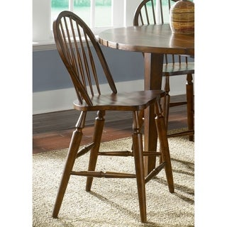 The Gray Barn Mendosa Bistro Brown Windsor Style Counter Height Chair