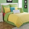 Dash Sunflower/Lemongrass Solid Color Reversible Quilt Set by Fiesta