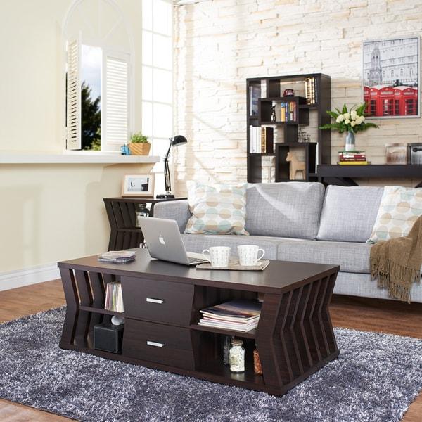 Shop Furniture Of America Loxie Modern Espresso Slatted