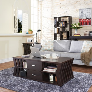 Furniture of america coffee sofa end tables for Furniture of america inomata geometric high gloss coffee table
