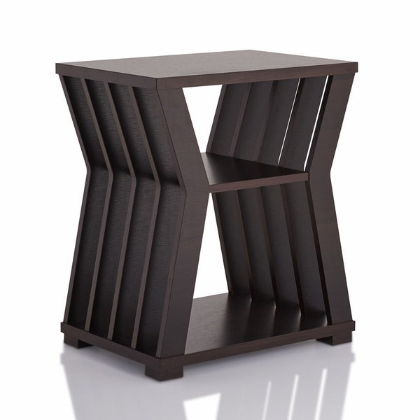 Furniture Of America Loxie Modern Espresso Slatted End Table