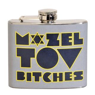 Mozel Tov B****** Fun 5-ounce Grey Party Flask