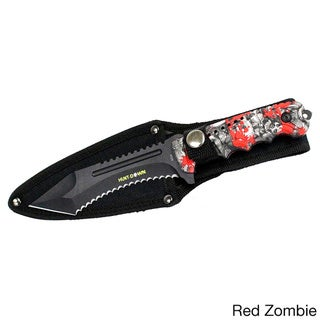 9.5-inch Hunt-down Serrated Full-tang Blade Hunting Knife