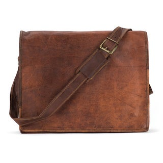 Satch and Fable FL 15 inch Leather Flap Messenger