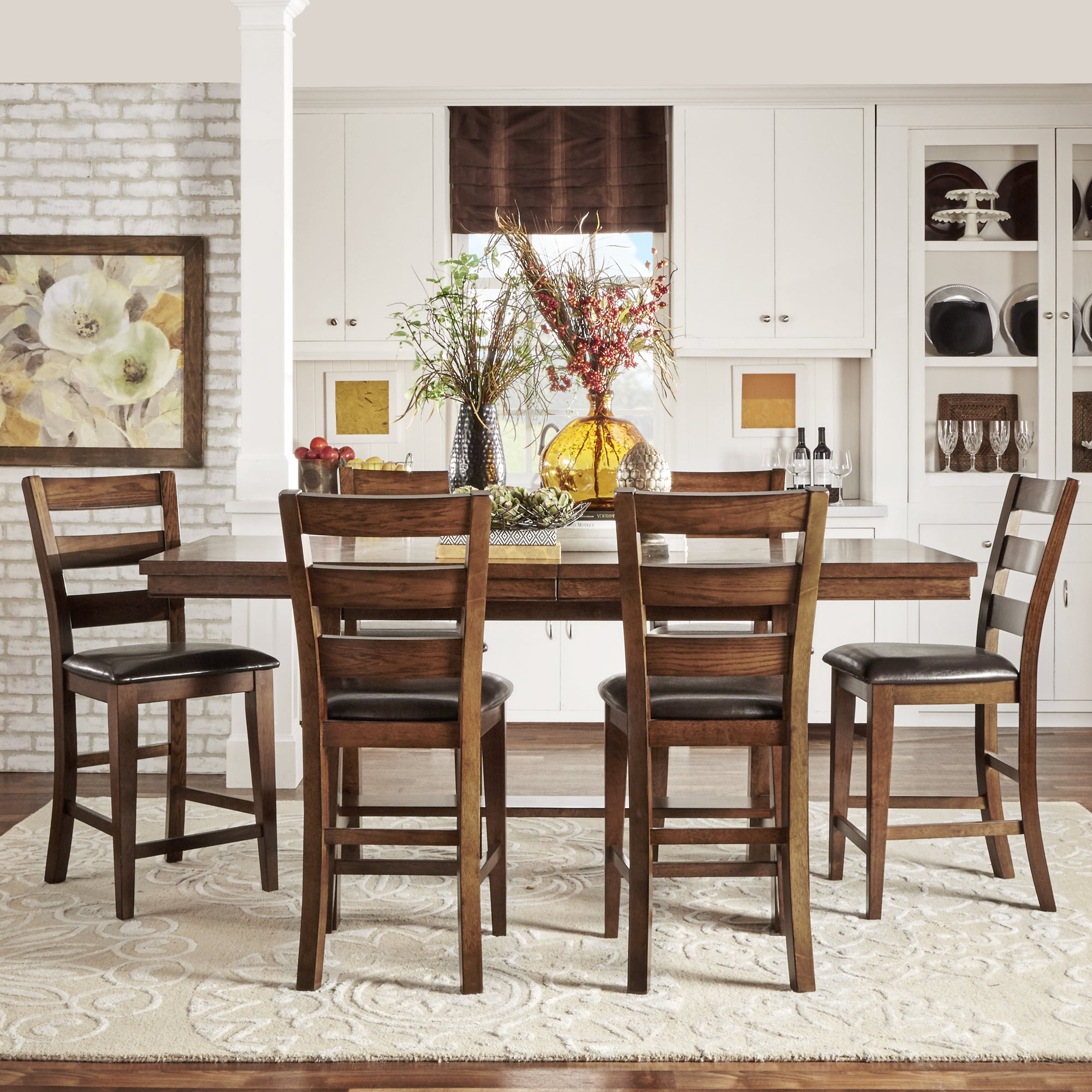 Bartol Warm Brown Mission Counter Height Extending Dining Table Overstock 10630319