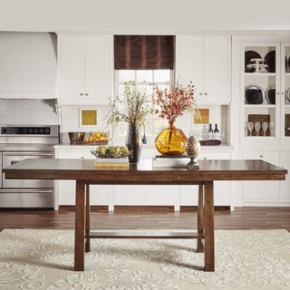 Bartol Warm Brown Mission Counter-height Extending Dining Table