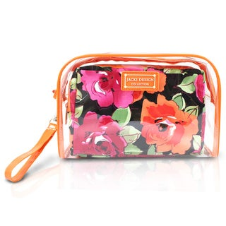 Jacki Design Tropicana 2-piece Cosmetic Bag Set with Wristlet