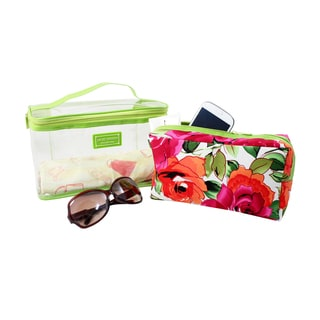 Jacki Design Tropicana 2-piece Cosmetic Bag Set