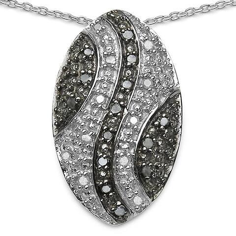 Olivia Leone .925 Sterling Silver 0.51 Carat Genuine White Diamond Pendant